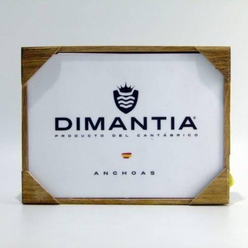 Estuche de anchoas del Cantábrico en aceite de oliva virgen extra ecológico 14-16 filetes 105 grs Dimantia