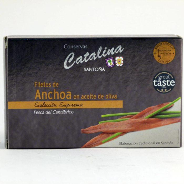 Comprar anchoas Catalina lata de 90 gramos en aceite de oliva online