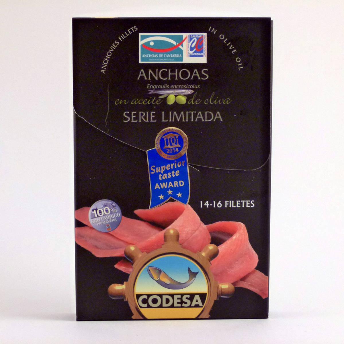 Anchoas Codesa Serie Limitada Lata de 14-16 filetes en aceite de oliva