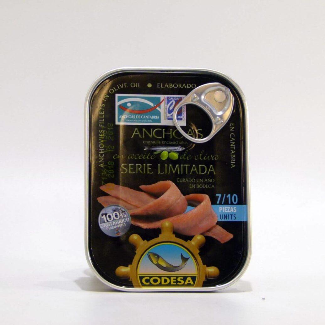 Anchoas Codesa Serie Limitada lata de 55 gramos en aceite de oliva