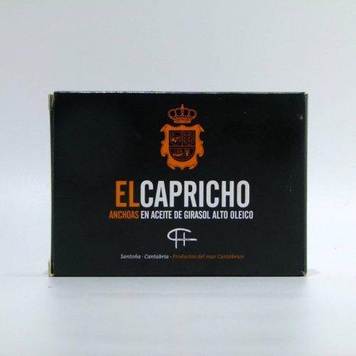 Anchoas El Capricho lata de 78 gramos en aceite de girasol alto oleico