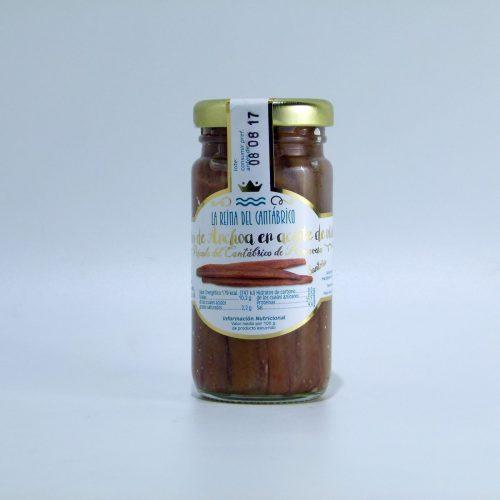 Anchoas de Santoña La Reina del Cantábrico tarro de 100 gramos en aceite de oliva