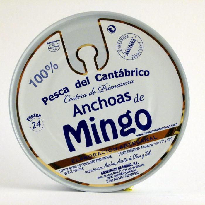 comprar Anchoas Mingo pandereta de 24 filetes en aceite de oliva