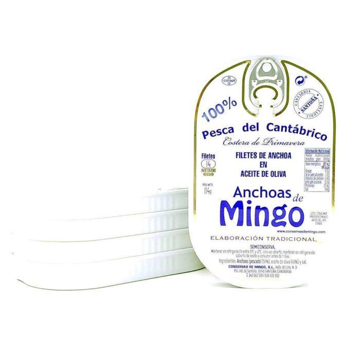 Anchoas Mingo serie oro promoción 5 latas