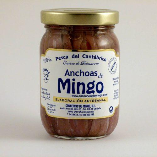 Anchoas Mingo tarro de 32 filetes en aceite de oliva