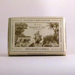 Chocolate 60% Cacao y Canela Simon Coll - Diferente