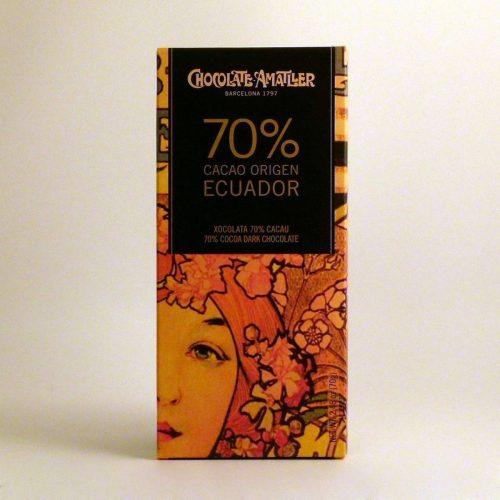 Comprar Tableta de chocolate Amatller 70% cacao Ecuador 70 grs online gourmet