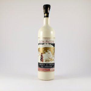 Botella de crema de Orujo de  Liébana Los Picos 70 cl