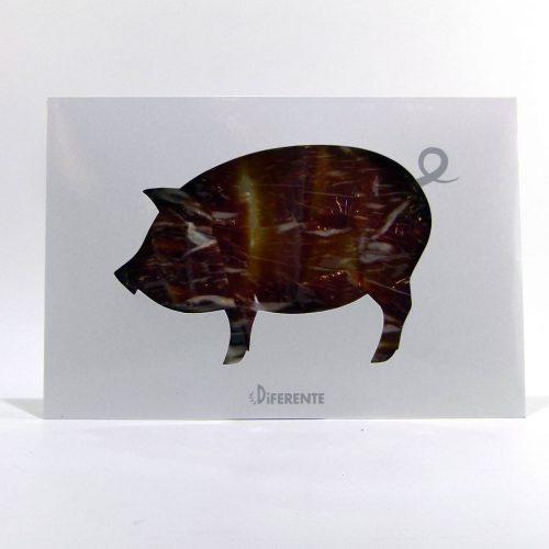 Jamón ibérico gourmet de bellota de Jabugo cortado a cuchillo 5J sobre de 100 gramos