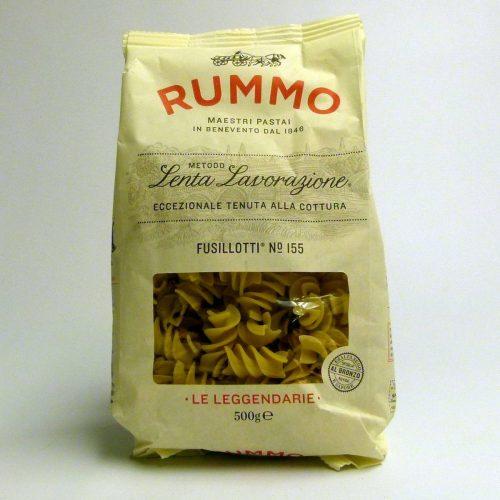 Paquete de pasta italiana Fusillotti nº155 Rummo 500 gramos
