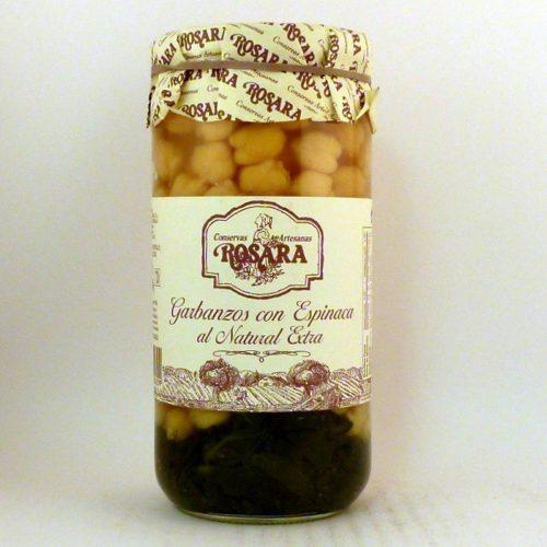 Garbanzos con Espinacas conservas Rosara