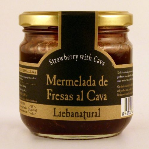 Mermelada de Fresas al Cava Liebanatural - Diferente Gourmet