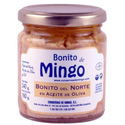 Anchoas Mingo Tarro de Bonito del norte en aceite de Oliva 240 grs