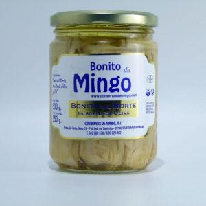 Tarro de Bonito del norte en aceite de Oliva de Conservas Mingo 600 grs