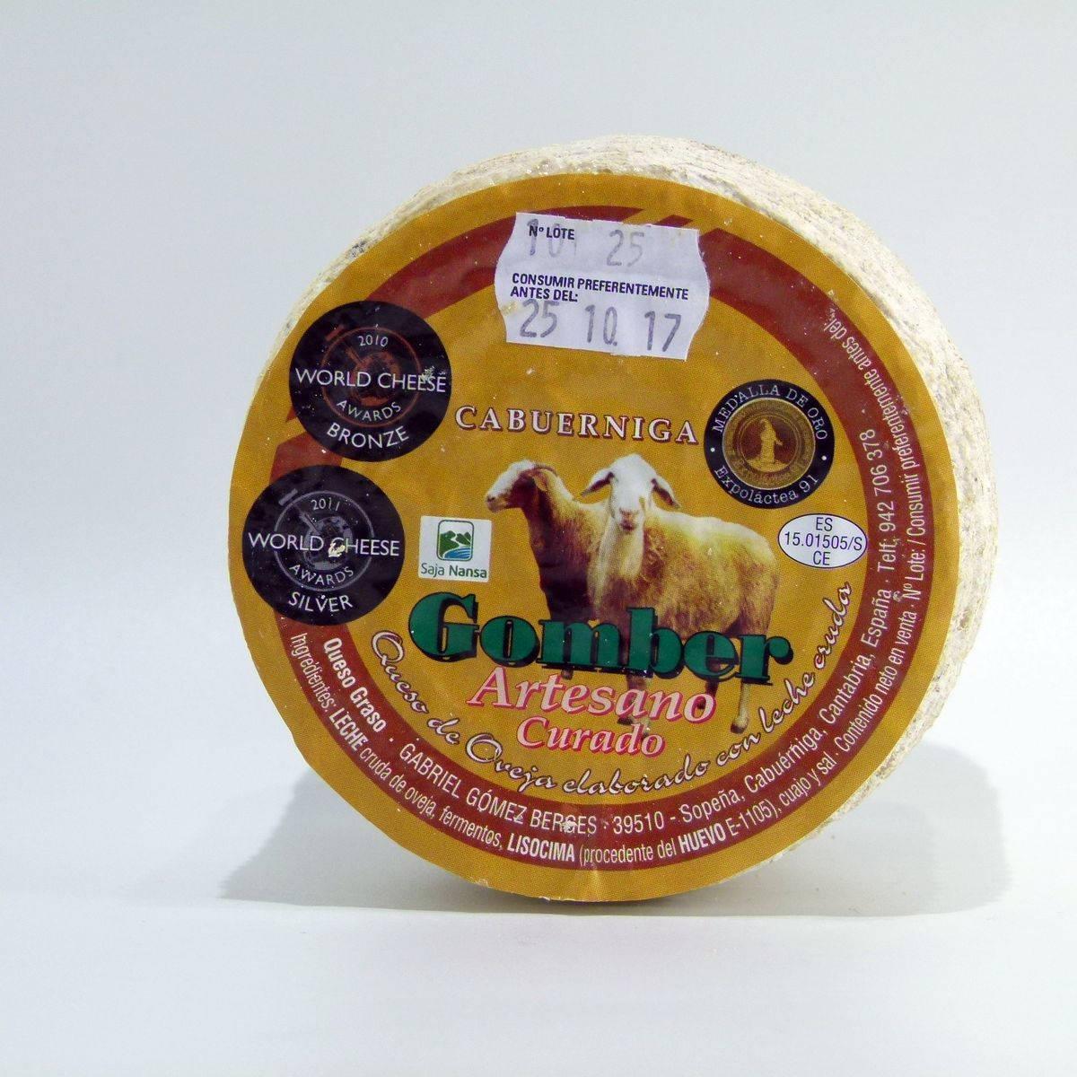 Comprar queso Gomber de oveja Cantabria online