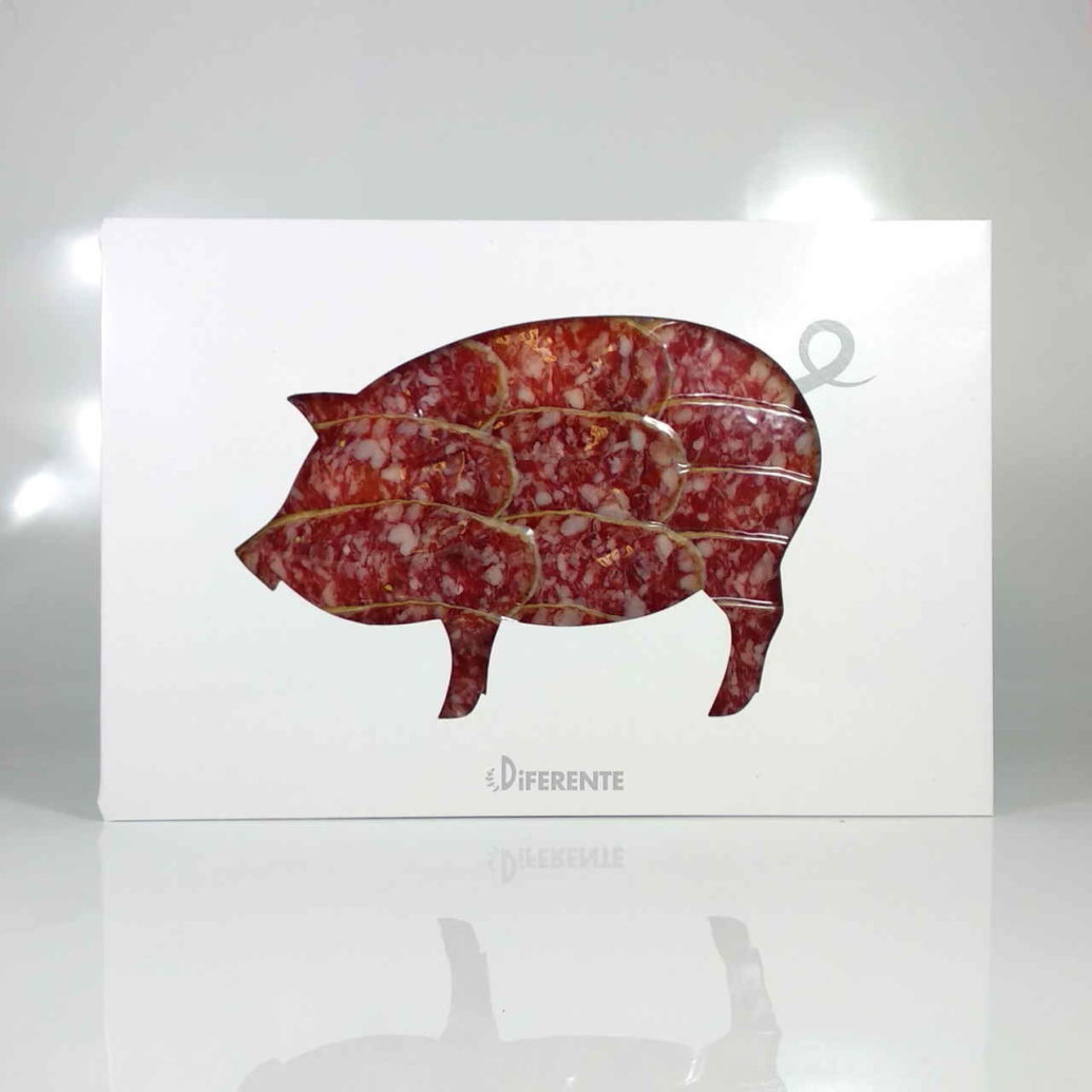 Salchichón Ibérico de bellota de Salamanca sobre de 100 grs