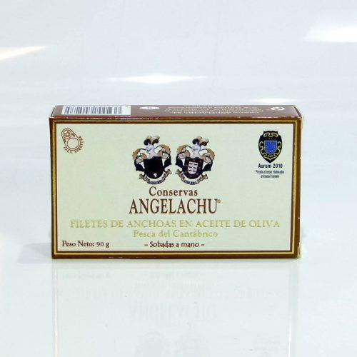 Anchoas de Santoña Angelachu doble octavillo en aceite de oliva