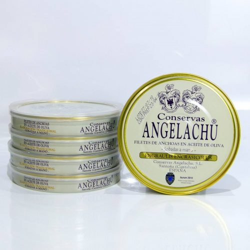 Anchoas Angelachu pack ahorro de 5 latas de 180 gramos de anchoas de Santoña gourmet