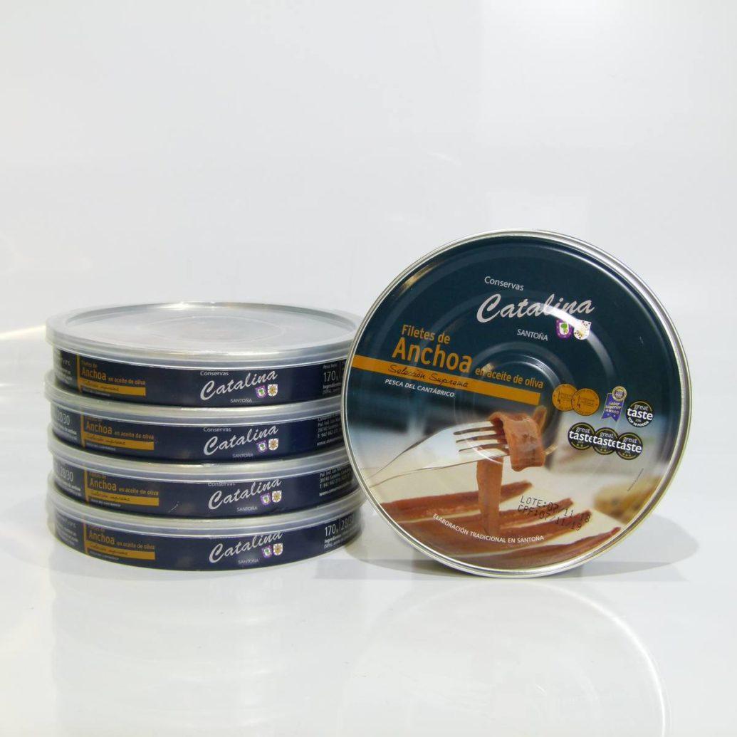 Comprar 5 panderetas de anchoas de Santoña Catalina online