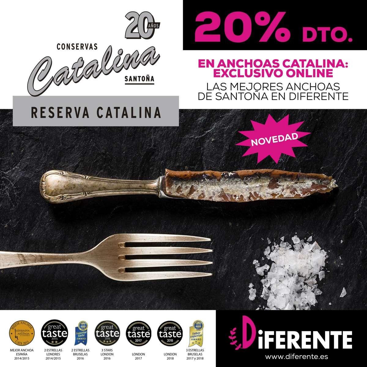 Anchoas Catalina 20% de DESCUENTO