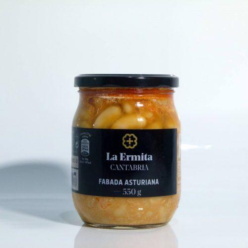 Comprar delicatessen la Ermita fabada asturiana tarro de 550 gramos