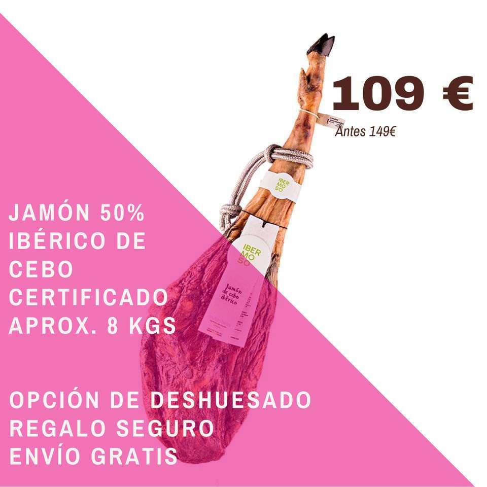 Jamón Ibérico de cebo de Salamanca 8 kgs
