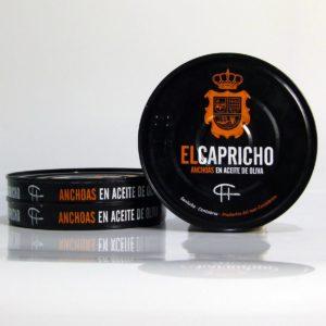 Anchoas de Santoña el Capricho pack de 3 latas de 115 gramos en aceite de oliva