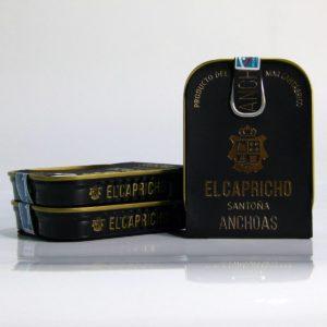 Pack de 3 latas de anchoas de Santoña el Capricho de 95 gramos