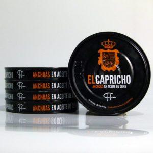 Anchoas de Santoña el Capricho pack de 5 latas de 115 gramos en aceite de oliva