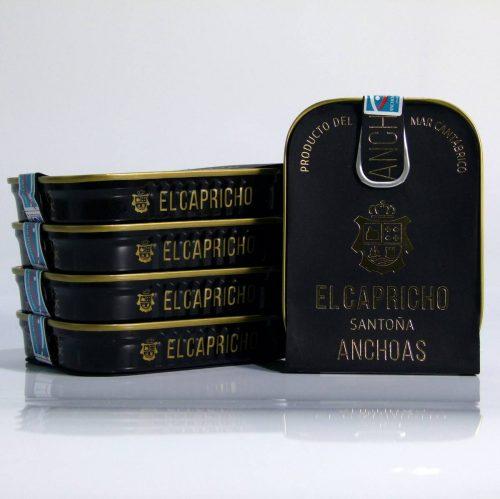 Pack de 5 latas de anchoas de Santo
