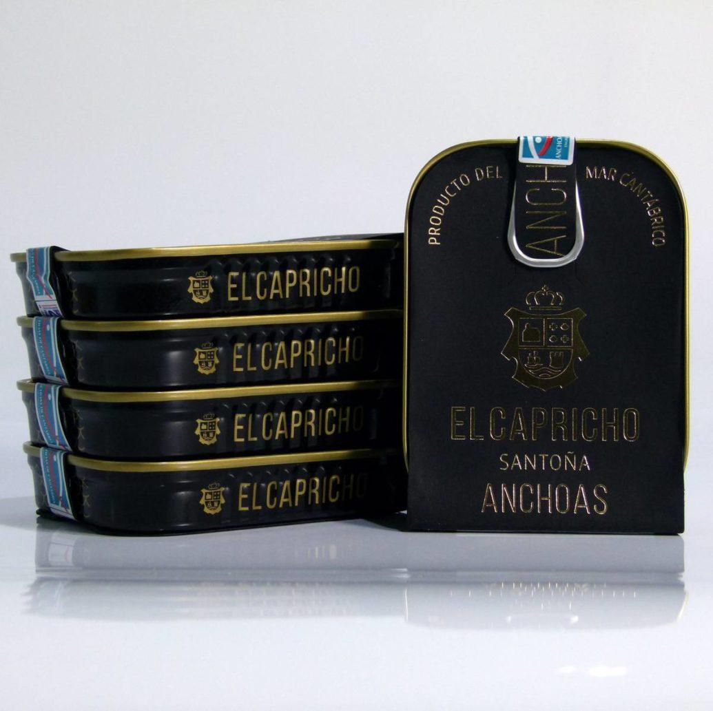 Compra lata de anchoas el Capricho 95 grs solo 15.19 € con envio gratis