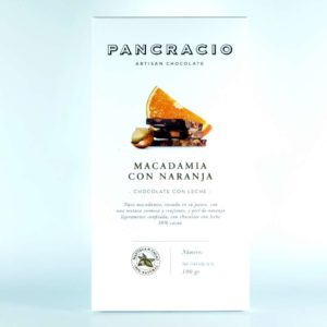 Comprar Chocolate Pancracio con leche y nuez de macadamia y naranja 100 grs online gourmet