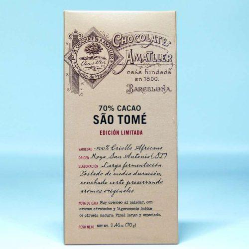 Comprar Tableta de chocolate Amatller 70 % cacao Sao Tome edición limitada 70 grs gourmet online