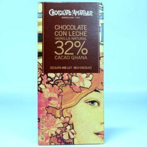 Comprar Tableta de chocolate Amatller Ghana 32% cacao y bourbon 70 grs gourmet online