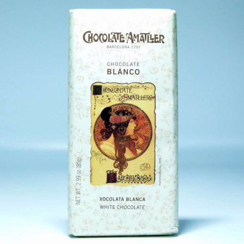 Tableta de chocolate Amatller blanco 85 grs online gourmet