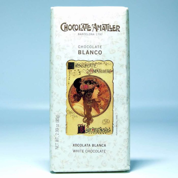 Tableta de chocolate Amatller blanco 85 grs online gourmet