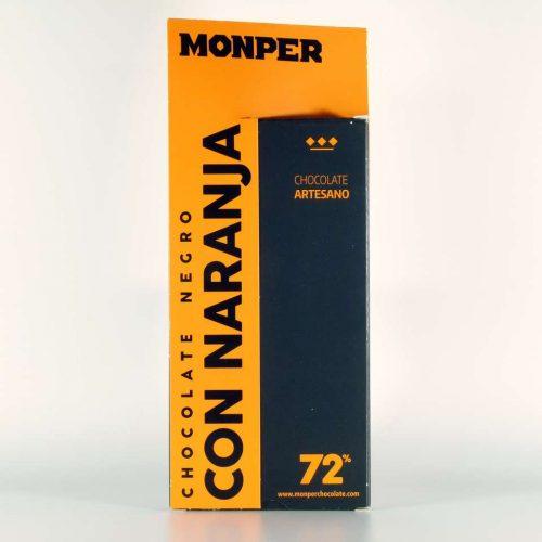 comprar chocolate monper gourmet negro con naranja cantabria online
