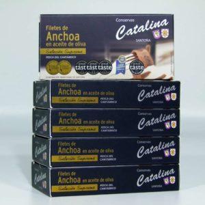 Comprar 5 octavillos de anchoas de Santoña Catalina online gourmet