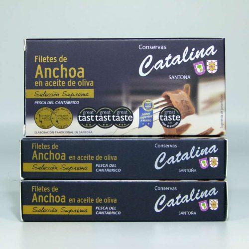 Comprar 3 octavillos de anchoas Catalina online gourmet