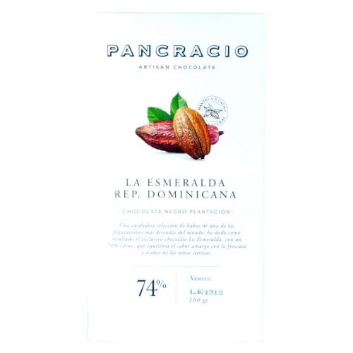 comprar Chocolate Pancracio 74 por ciento cacao republica dominicana online100 grs