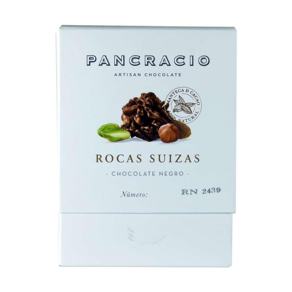 comprar bombones rocas suizas chocolate negro pancracio