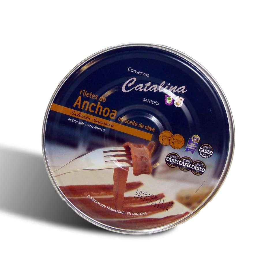 Anchoas catalina pandereta de 180 gramos