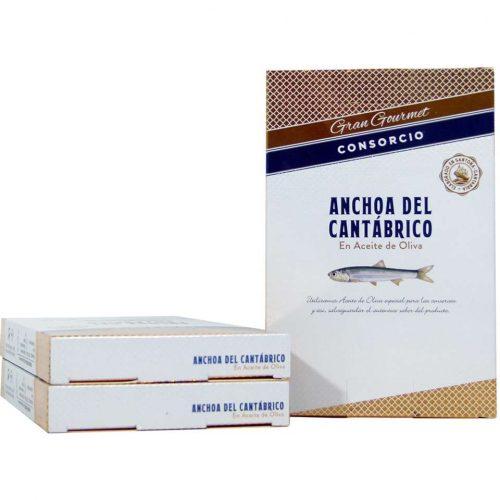 Anchoas del Cantábrico conservas consorcio gran gourmet ahorro 3 unidades