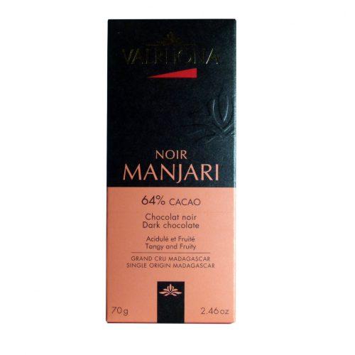Chocolate Valrhona Manjari con naranja tableta de 70 grs
