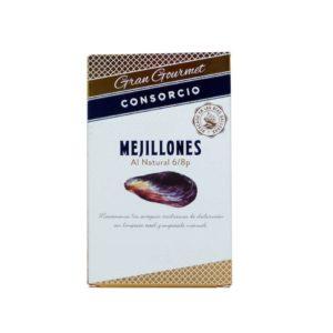 Conservas consorcio mejillones al natural gran gourmet 111 gramos