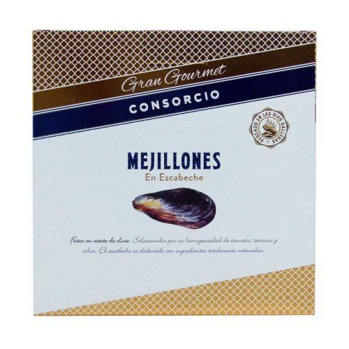 Conservas consorcio mejillones en escabeche gran gourmet