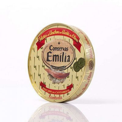 pandereta de anchoas de conservas emilia