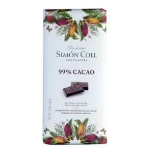 Chocolate Simon Coll 99 % cacao 85 grs