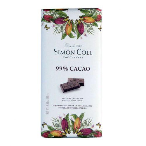 Chocolate Simon Coll 99 % cacao 85 grs