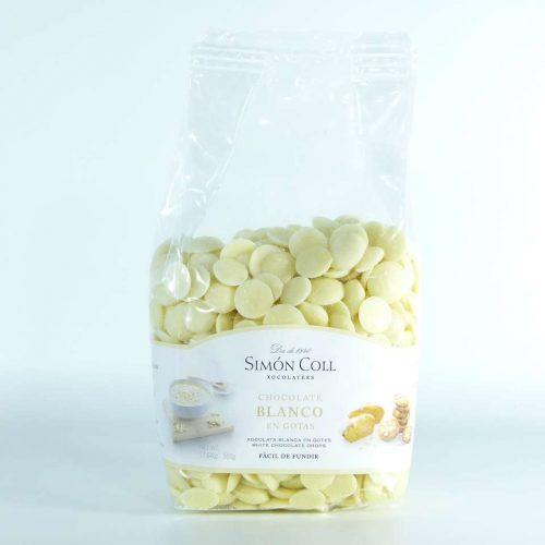 Pepitas de cobertura de chocolate blanco Simon Coll 500 grs
